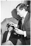 David Bailey; Nigel Dempster, Private view of Lord Lichfield wedding pictures. Ritz. October 1981. SUPPLIED FOR ONE-TIME USE ONLY> DO NOT ARCHIVE. © Copyright Photograph by Dafydd Jones 248 Clapham Rd.  London SW90PZ Tel 020 7820 0771 www.dafjones.com