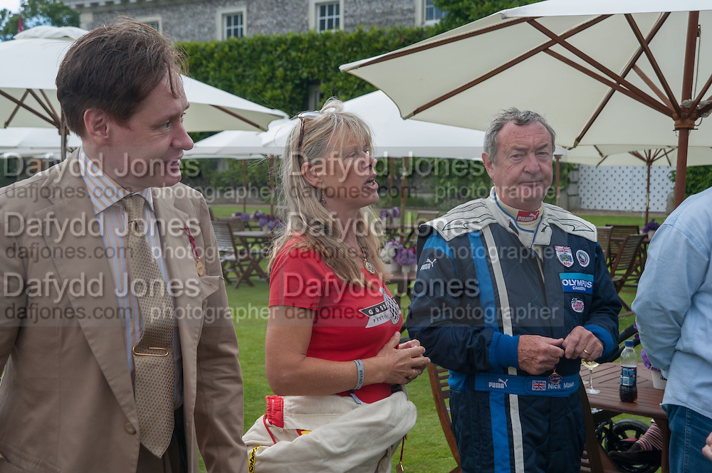 NICK FOULKES; NETTIE MASON; NICK MASON, The Cartier Style et Luxe during the Goodwood Festivlal of Speed. Goodwood House. 1 July 2012.