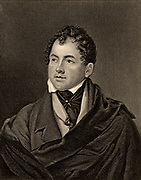 Thomas Moore (1779-1852) Irish-born poet and writer. Friend of Leigh Hunt, Lord John Russell and Lord Byron, whose memoirs he destroyed. Engraving from 'The World's Great Men' (London, c1870).