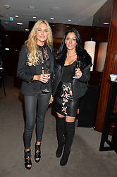 Left to right, STEPHANIE PRATT and ANDRAYA SMITH at a screening of Paramount Pictures 'Allied' hosted by Rosie Nixon of Hello! Magazine at The Bulgari Hotel, 171 Knightsbridge, London on 23rd November 2016.