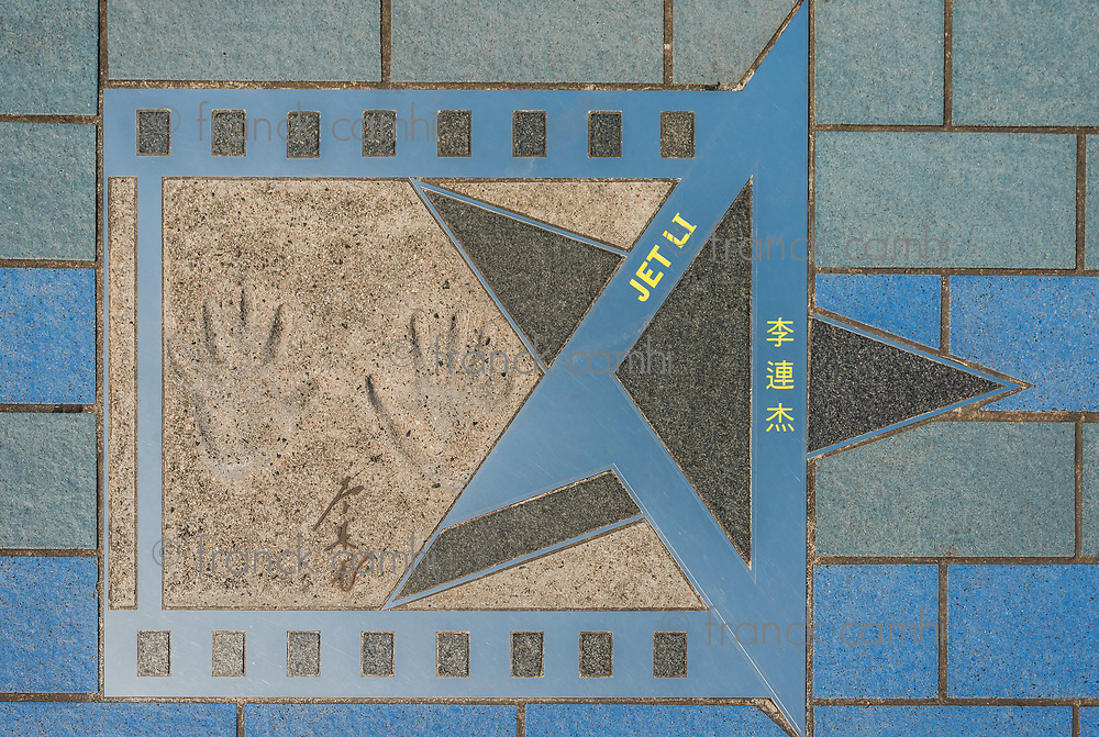 Jet Li star at Avenue of Stars Tsim Sha Tsui Kowloon in Hong Kong