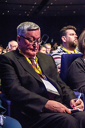 Pictured: Fergus Ewing; MSP; Cabinet Secretary for the Rural Economy and Connectivity.<br /> The members of the SNP gathered in the Scottish Events Centre in Glasgow for their annual conference.<br /> <br /> The Ger Harley | EEm 9 October 2017