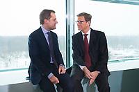 23 JAN 2013, BERLIN/GERMANY:<br /> Daniel Bahr (L), FDP, Bundesgesundheitsminister, und Guido Westerwelle (R), FDP, bundesaussenminister, im Gespraech, vor Beginn der Kabinettsitzung, Bundeskanzleramt<br /> IMAGE: 20130123-01-015<br /> KEYWORDS: Kabinett, Sitzung, Gespräch