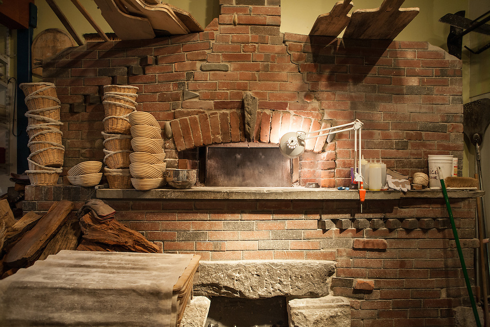 Jamestown, RI - 7 May 2007. The oven at The Village Hearth Bakery and Cafe, built by baker Andrea Colognese.