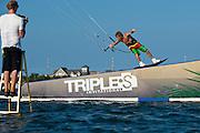 Outerbanks, NC - Ruben Lenten kiteboarding at the Triple-S 2011