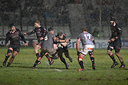 Hail didn't stop play during the Guinness Pro 14 2017_18 match between Edinburgh Rugby and Southern Kings at Myreside Stadium, Edinburgh, Scotland on 5 January 2018. Photo by Kevin Murray.