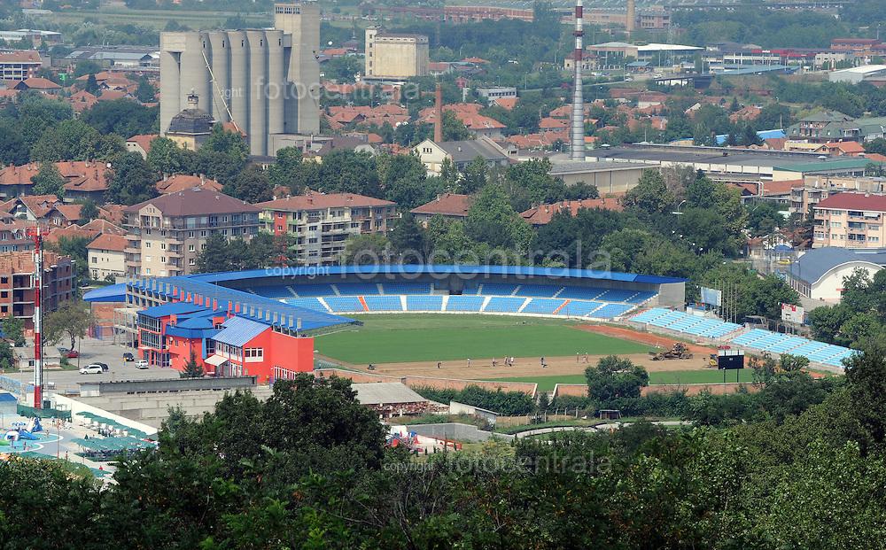 FUDBAL, JAGODINA, 05. Avg. 2010. - Stadion FK Jagodina. Foto: Nenad Negovanovic