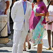 ITA/Siena/20100717 Wedding of soccerplayer Wesley Sneijder and tv host Yolanthe Cabau van Kasbergen, Levi van Kempen en zus Iris