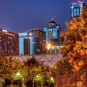 View of some Kansas City skyscrapers from the Quality Hill area of downtown Kansas City MO.