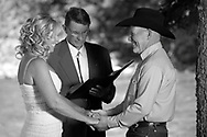 Tim and Teresa Jones marry at the Taylor Ranch  in Jackson, Wyoming on July 20, 2013.