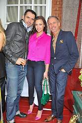 Left to right, ROLAND MOURET, CAMILLA AL FAYED and PATRICK COX at a lunch to celebrate the the Lulu & Co Autumn/Winter 2011 collection held at Harry's Bar, 26 South Audley Street, London W1 on 21st June 2011.