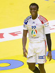 Luc Abalo of France during handball match between France and Iceland in  Main Round of 10th EHF European Handball Championship Serbia 2012, on January 25, 2012 in Spens Hall, Novi Sad, Serbia. (Photo By Vid Ponikvar / Sportida.com)