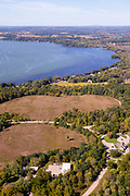 Aerial photograph of Lake Kegonsa State Park, Wisconsin, USA.