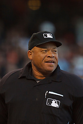 August 29, 2011; San Francisco, CA, USA;  MLB umpire Kerwin Danley (44) stands behind home plate during the first inning between the San Francisco Giants and the Chicago Cubs at AT&T Park. Chicago defeated San Francisco 7-0.