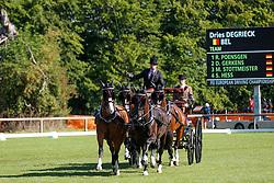 Degrieck Dries, BEL, D'Aguistinie, Dirk, Garrelt, Grenadier, Zilverone<br /> Donaueschingen - CHI mit Europameisterschaft Gespannfahren 2019<br /> Dressage Four-in-hand horses Driving European Championship<br /> Vierspänner Dressur<br /> 16. August 2019<br /> © www.sportfotos-lafrentz.de/Stefan Lafrentz