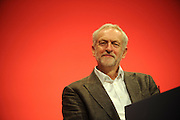 Labour Party Annual Conference<br /> Brighton<br /> 27-30 September<br /> Jeremy Corbyn MP, newly elected leader of the Labour Party, at the opening session of the conference.