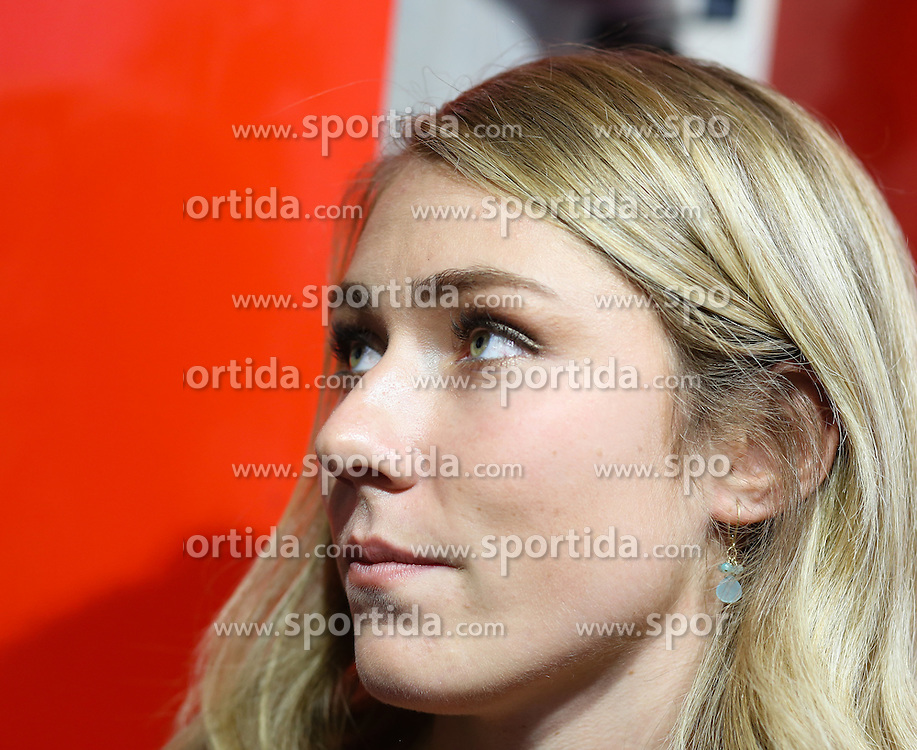 05.10.2015, Atomic Homebase, Altenmarkt, AUT, Atomic Medien Tag, im Bild Mikaela Shiffrin (USA) // Mikaela Shiffrin of the USA during the Atomic Media Day at Atomic Homebase in Altenmarkt, Austria on 2015/10/05. EXPA Pictures © 2015, PhotoCredit: EXPA/ Martin Huber