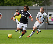 Dundee new boy Yordi Teijsse and Dumbarton's Frazer Wright - Dumbarton v Dundee, pre-season friendly at the Cheaper Insurance Direct Stadium, Dumbarton<br /> <br />  - &copy; David Young - www.davidyoungphoto.co.uk - email: davidyoungphoto@gmail.com