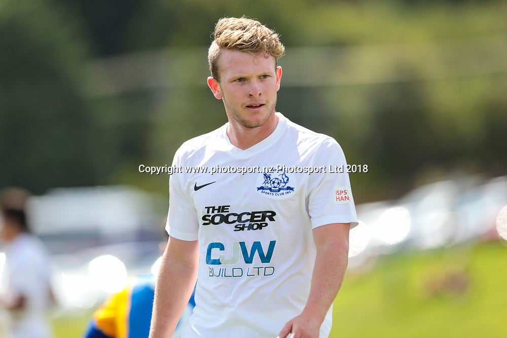 Wanderer's Liam Hayes during the Southern United vs Hamilton, ISPS Handa Premiership football match held at Sunnyvale Park, Dunedin, New Zealand. 10 March 2018. Copyright Image: Derek Morrison / www.photosport.nz