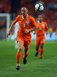 Andre Ooijer of Holland during the International Friendly between Netherlands and England at the Amsterdam Arena on August 12, 2009 in Amsterdam, Netherlands.