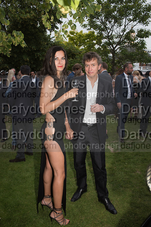ADRIENN ALMASY; CARY MARTIN, 2016 SERPENTINE SUMMER FUNDRAISER PARTY CO-HOSTED BY TOMMY HILFIGER. Serpentine Pavilion, Designed by Bjarke Ingels (BIG), Kensington Gardens. London. 6 July 2016