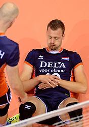 20150619 NED: World League Nederland - Portugal, Groningen<br /> De Nederlandse volleyballers hebben in de World League ook hun derde duel met Portugal gewonnen. Na de uitzeges van half mei was Oranje in Groningen met 3-0 te sterk: 25-18, 25-21, 25-23 / Jeroen Rauwerdink #10
