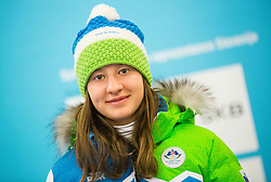 Veronika Jakopic during presentation of Slovenian Young Athletes before departure to EYOF (European Youth Olympic Festival) in Vorarlberg and Liechtenstein, on January 21, 2015 in Bled, Slovenia. Photo by Vid Ponikvar / Sportida