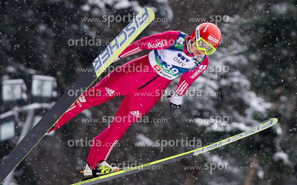 Ulrike Graessler of Germany during Normal Hill Individual Competition at FIS World Cup Ski jumping Ladies Ljubno 2012, on February 12, 2012 in Ljubno ob Savinji, Slovenia. (Photo By Vid Ponikvar / Sportida.com)