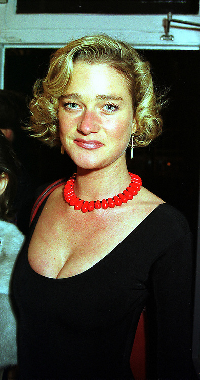 MISS DELPHINE BOEL illegitimate daughter of King Albert of Belgium, at a party in London on 7th December 1999.MZT 74