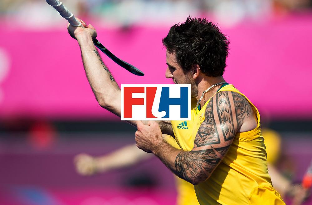 London Olympics 09/08/2012.Mens Hockey, Semi Final Australia v Germany.Kieran Govers...Photo: Grant Treeby