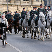 Royal Danish Cavalry with a ride through the streets of Copenhagen <br /> Photography by Jose More