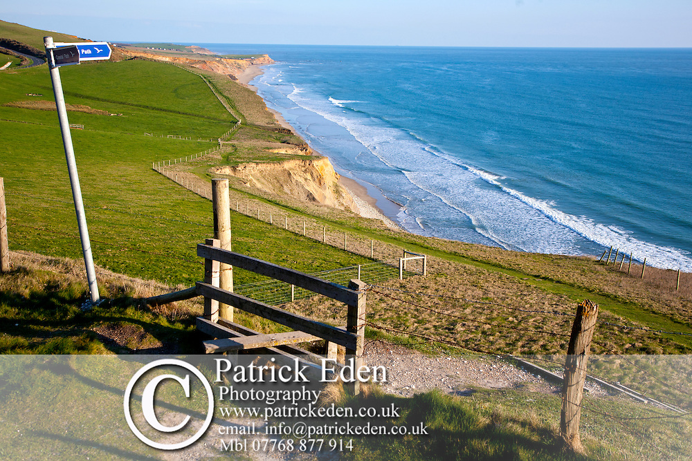 Walking, Coastall Path, Style, Signpost, Compton Bay, Isle of Wight, England, UK Photographs of the Isle of Wight by photographer Patrick Eden photography photograph canvas canvases
