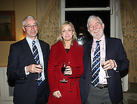 Hal Fitzgereald, Commodore Wicklow Sailing Club  Patricia Greene from Volvo Car  Ireland, Theo Phelan Race Organiser Wicklow Sailing Club, were at the at the launch of 18th Volvo 2016 Round Ireland Yacht Race which was held in the Royal Irish Yacht Club.<br />