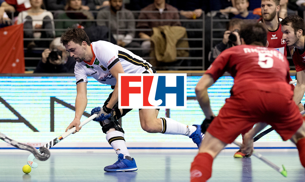 BERLIN - Indoor Hockey World Cup<br /> Quarterfinal 3: Germany - Switzerland<br /> foto: Tobias Hauke.<br /> WORLDSPORTPICS COPYRIGHT FRANK UIJLENBROEK