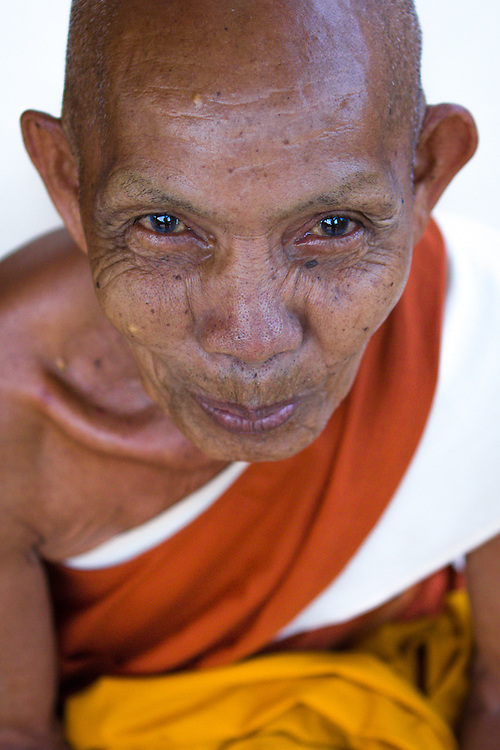 An 81-year-old monk at a buddhist monastery in Siem Reap, Cambodia.