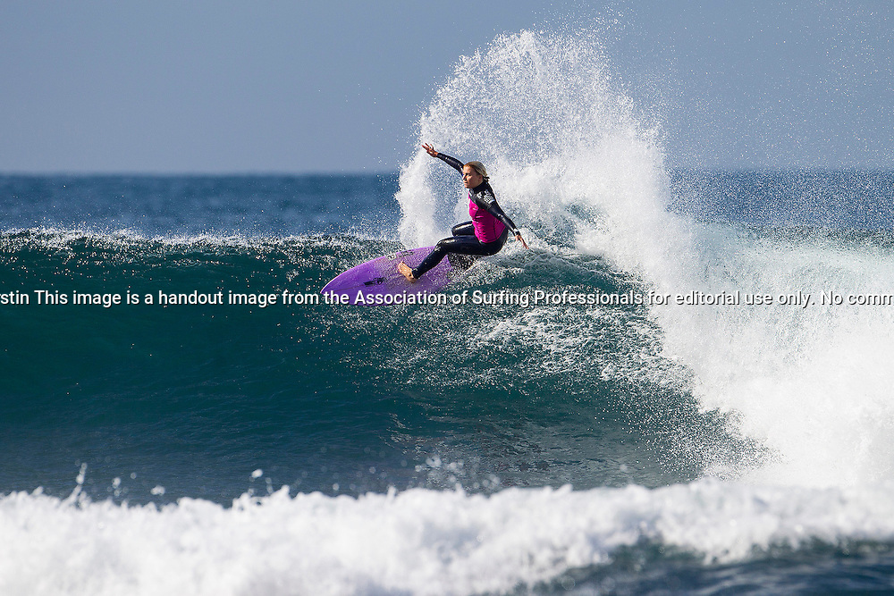 Dimity Stoyle of the Sunshine Coast, Australia (pictured) posted her best result of the season, placing equal 5th at the Rip Curl Pro Bells Beach on Tuesday April 22, 2014. Stoyle reached the quarterfinals where she was eliminated by Stephanie Gilmore.