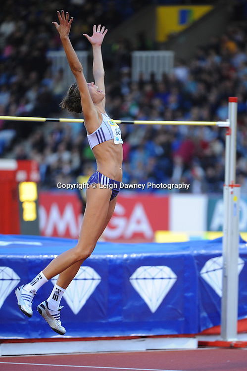Blanka Vlasic (Croatia) celebrates a great high jump at The Aviva Grand Prix World Athletics at Crystal Palace UK on 13th August 2010. © Photo credit: Leigh Dawney