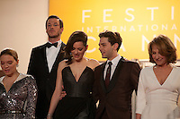Lea Seydoux, Gaspard Ulliel, Marion Cotillard, Xavier Dolan, Nathalie Baye  at the gala screening for the film It's Only the End of the World (Juste La Fin Du Monde) at the 69th Cannes Film Festival, Thursday 19th  May 2016, Cannes, France. Photography: Doreen Kennedy