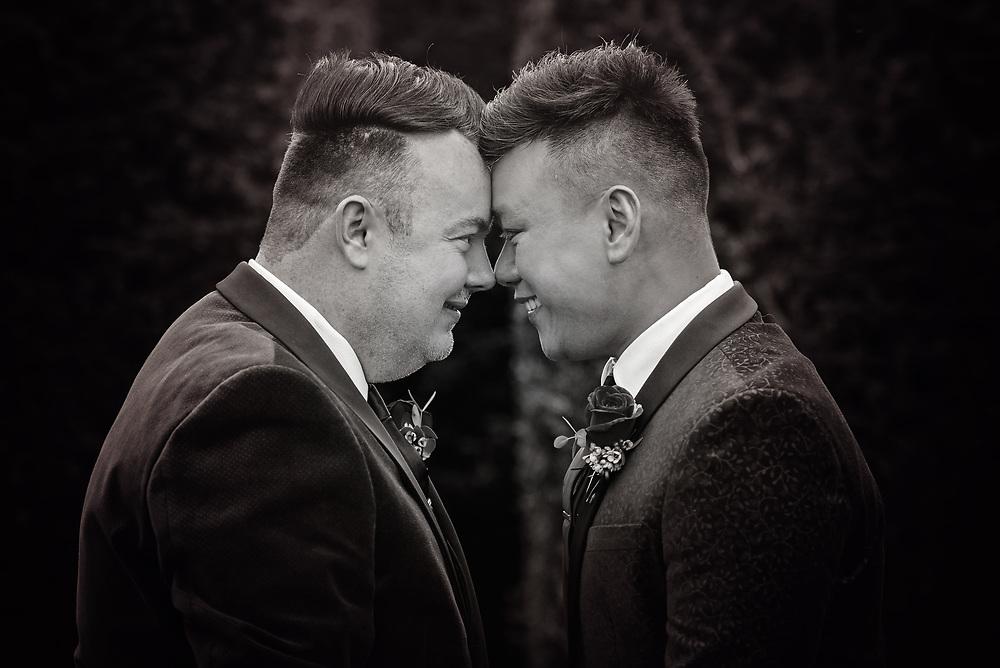 Same sex wedding celebrations at Eynsham Hall, Oxfordshire