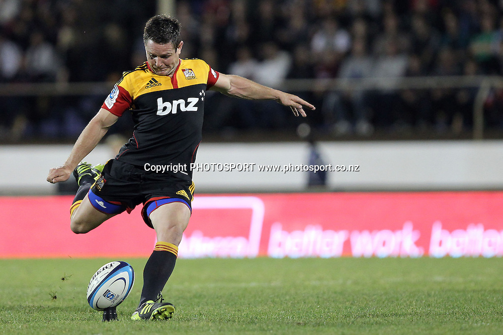 Chiefs' Mike Delany. Super 15 rugby union match, Chiefs v Crusaders at Baypark Stadium, Mt Maunganui, New Zealand. Friday 15th April 2011. Photo: Anthony Au-Yeung / photosport.co.nz
