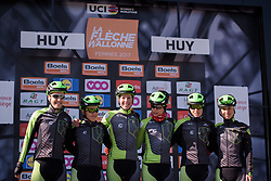 Cylance Pro Cycling sign on for La Flèche Wallonne Femmes - a 120 km road race starting and finishing in Huy on April 19 2017 in Liège, Belgium.