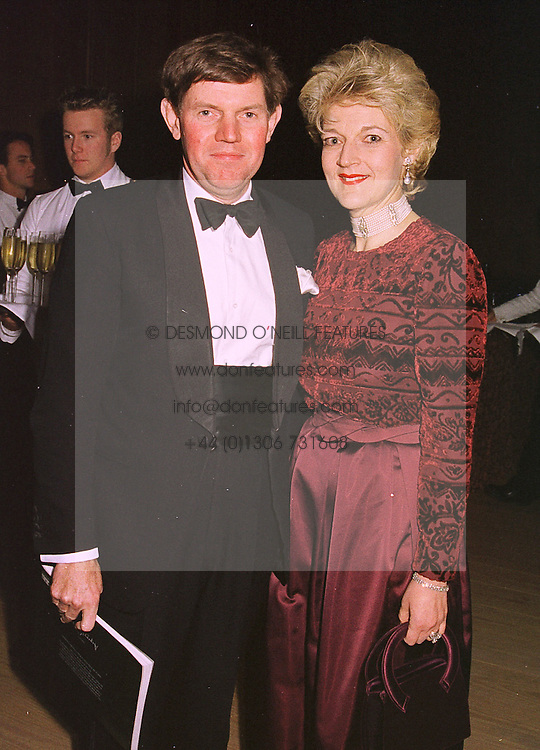 MR & MRS IAN SHACKLETON she is Fiona Shackleton the lawyer who handled the Prince of Wales' divorce, at a banquet in Surrey on 12th Novemb er 1998.MLX 14