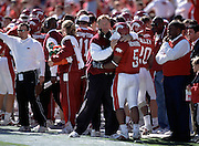 Arkansas Razorbacks defeat the Auburn Tigers 42 to 17 in Fayetteville, AR<br /> on 10/27/2001.<br /> <br /> Photos by Wesley HittUniversity of Arkansas Football Coaches during the 2001-2002 Season.