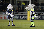 Sale Shark's' mascots during the Aviva Premiership match between Sale Sharks and Saracens at the AJ Bell Stadium, Eccles, United Kingdom on 16 February 2018. Picture by George Franks.