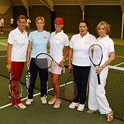 Tennisclinic Hilversum Open 2004, Alma Nieto, Amanda Hopman, Sandy Kandau, Willeke van Amelrooy + Brigitte Nijman