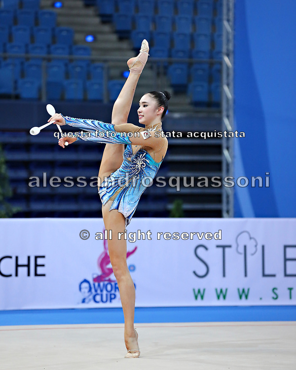 Sakura Hayakawa was born 17 March 1997 in Osaka, Japan is a Japanese individual rhythmic gymnast.