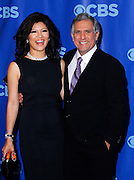 Julie Chen and Les Moonves attend the CBS Prime Time 2011-12 Upfronts in the Tent at Lincoln Center  in New York City on May 18, 2011.