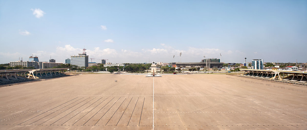 Wide view of Independence Square, Accra, Ghana 2011