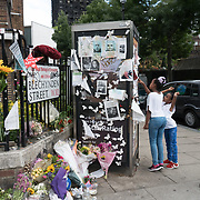 Messages to remembrance of the Grenfell Tower fire victims at Latimer Road