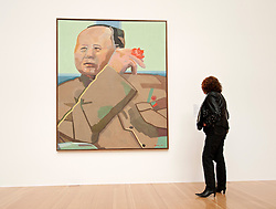 Painting Mao Tse-tung by Eugen Schonebeck at Schirn Kunsthalle in Frankfurt am Main Germany